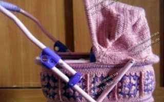 Мастер-класс. Коляска крючком. Чехол для коляски, связанный крючком Схема вязания коляски крючком для кукол