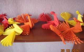 Птенчик из бумаги. Птицы из бумаги (55 поделок для детей). Жар-птица из соленого теста своими руками — мастер-класс