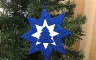 Вифлеемская звезда поделка в сад. Рождественская звезда. Вифлеемская звезда из бумаги для украшения елки