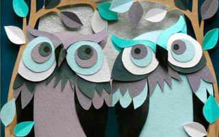 Сова из цветной бумаги своими руками. Как сделать сову из бумаги своими руками объемную. Сова из деревянных деталей