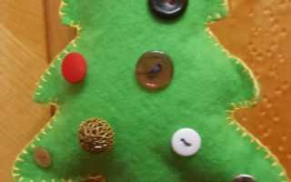 Как сделать новогоднюю елку своими руками? Белая пушистая елка из ваты — Мастер-класс с фото. Новогодняя поделка из фетра