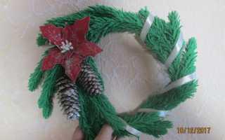 Новогодний венок из фома и глины. Новогодний венок из фоамирана Как сделать из фоамирана рождественский венок