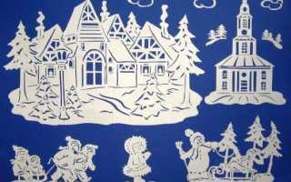 Новогодние витражи на окна из бумаги шаблоны. Новогодние самоделки своими руками. Какими бывают вытынанки