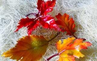 Осенние поделки из фоамирана своими руками. Мастер-класс по цветам из фоамирана: Осенние листочки. Создаем осенний букет