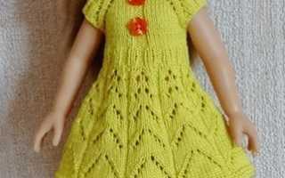 Мк вязаное платье. МК. Вяжем платье для куклы Паола Рейна, совместное творчество. Схемы для вязания платья