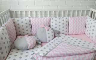 Шьем бортики в круглую кроватку. Как сшить бортики в детскую кроватку для новорожденных своими руками