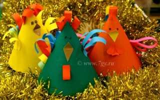 Бумажные поделки петуха. Петушок из цветной бумаги (конус) поделка к Пасхе или Новому году петуха для детей своими руками