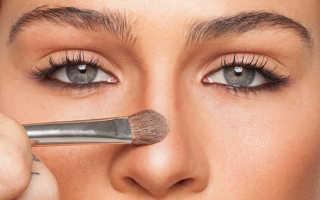 Увеличиваем нос с помощью макияжа. Как уменьшить нос с помощью макияжа. Под цветными оттенками легко спрятать