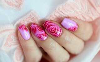 Как нарисовать розы на ногтях: поэтапная инструкция. Как нарисовать розы на ногтях в домашних условиях