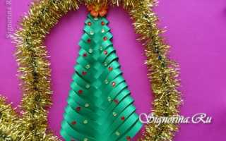 Из чего делают елки своими руками. Объемная бумажная елочка. Аппликация «елочка» из одноразовой тарелки