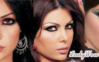 Вечерний макияж для карих глаз блестяшки. Макияж карих глаз — добавь сияние! Восточный или арабский макияж для карих глаз