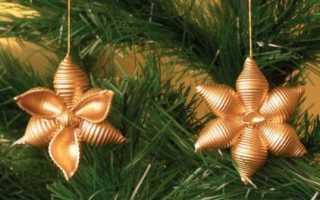 Новогодние поделки из рожков. Новогодние украшения из макарон. Как сделать новогодние игрушки из макарон своими руками