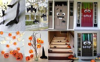 Украшения на Хэллоуин своими руками – идеи с фото. Декорации на Хэллоуин своими руками: украшение комнаты с фото и видео