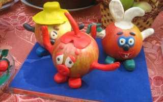 Как сделать изделия из фруктов и огородника. Детские поделки из овощей. Поделки из овощей и фруктов в детский сад