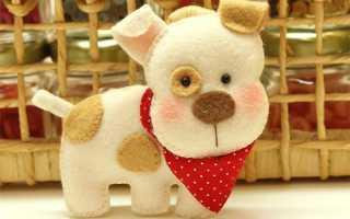 Собака своими руками (выкройки, схемы, шитье) — мастер класс. Новогодние поделки на год Собаки — символ года своими руками
