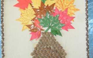 Открытка из природных материалов своими руками. Букет из кленовых листьев. Осенняя гирлянда «Листья» из солёного теста
