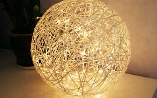 Шар из ниток и шара. Как сделать шарик из ниток и клея своими руками. Новогодние украшения в виде шариков из ниток и клея