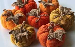 Вязание крючком тыква на хэллоуин. Описание вязанной крючком тыквы. Материалы и инструменты для вязания тыквы