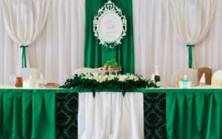 Оформление свадьбы в зеленом стиле. Оформление зала для свадьбы в зеленом цвете. Приглашения на свадьбу в зеленом стиле
