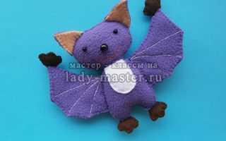 Игрушка летучая мышь своими руками выкройки. Летучие мышки. Для изготовления летучей мышки понадобится