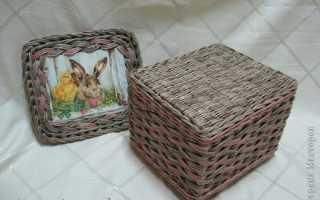 Газетное плетение косичка.  Плетение косички — Плетение из газет. IV. Плетение из газет основания изделия