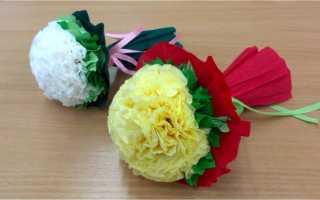 Цветы на 8 марта своими руками поэтапно. Мастер класс для учащихся начальной школы. Мастерим цветы из бумаги для мамы