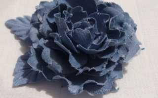 Как сделать розу из джинсовой ткани. Цветы из джинсовой ткани своими руками. Цветок, внешне напоминающий канзаши