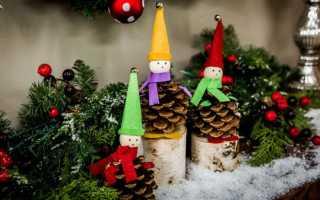 Новогодние гномы и эльфы своими руками. Гном новогодний — поделки для украшения дома и сада. Гномик Сплюшка из капрона