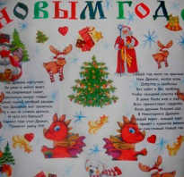 Очень простой плакат на новый год. Новогодние плакаты своими руками: фото. Учимся делать своими руками