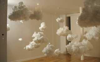 Облака из бумаги своими руками. Красивые облачка своими руками. Мастерим пушистые облака без основы своими руками