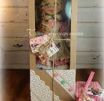 Упаковка и бирочка для кукол. Делаем текстильную упаковку для куклы Как сделать коробку для танца куклы