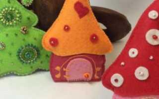 Панно на стену из фетра. Ёлочные игрушки своими руками из фетра: выкройка и схема. Что потребуется для работы
