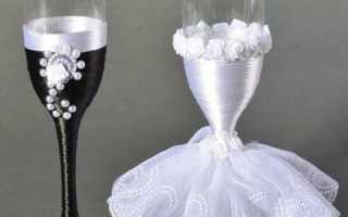 Оформление бокалов свадьбе своими руками красиво. Бокалы своими руками на свадьбу: мастер-класс и пошаговое фото