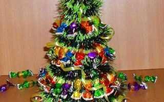 Конфетная новогодняя елочка на картонном конусе. Новогодний МК: как сделать елку из конфет? Подарок для взрослых