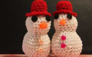 Снеговик с елочкой крючком. Снеговик крючком — схема и описание, инструкции для начинающих. как их связать крючком
