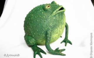 Забавная копилка «жабик» из папье-маше. МК. Как сделать маску из папье маше Домик папье маше с применением декупажа
