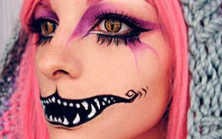 Макияж на хэллоуин поэтапно страшный. Макияж на хэллоуин для девушек в домашних условиях. Черт из табакерки