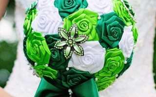 Цветок из тонкой ленты. Делаем красивые поделки из атласных лент. Свадебный букет из атласных лент для невесты