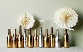 Поделки из коньячных бутылок своими руками. Декорирование бутылок своими руками (50 фото): оригинальные идеи украшения