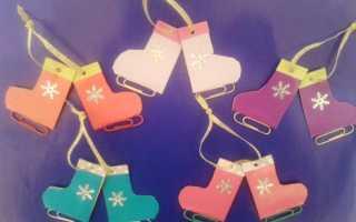 Елочная игрушка «Коньки. Игрушки на елку своими руками: миниатюрные коньки Коньки из фетра на новый год
