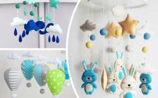 Детский мобиль из фетровых воздушных шаров. Мобиль из фетра воздушный шар своими руками Воздушный шар выкройка для мобиля