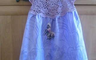 Платье крючком для 5 6 лет. Вяжем крючком красивые платья для девочки. Детское платье крючком на кокетке реглан