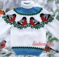 Вязаный снегирь крючком схема и описание. Красивый детский свитер «снегири». Материалы и инструмент
