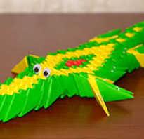 Модульное оригами. Крокодил. Схема сборки. Крокодильчик из модулей Модульное оригами крокодил гена часть 1