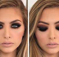 Бронзовый макияж для карих глаз. Smokey Eyes. Пошаговая инструкция выполнения. Различные техники макияжа