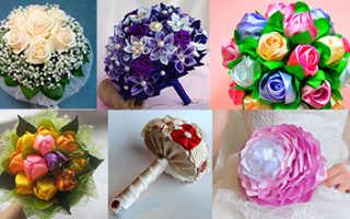 Красивые свадебные букеты своими руками. Букет невесты из живых цветов своими руками. Мастер-класс с фото