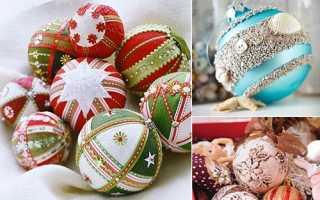 Белые новогодние шары своими руками. Шары с цветами из фетра. Как декорировать шар декоративными шариками