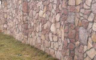 Забор из натурального камня своими руками. Земляные работ и строительство опалубки. Какие виды кладки используются