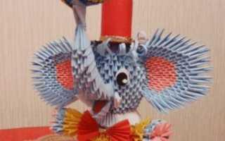 Модульное оригами слоник схема сборки. Модульное оригами слоник циркач схема. Пошаговая фото инструкция по сборке слона