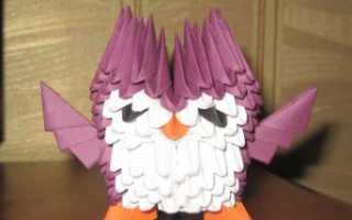 Как сделать сову из модулей оригами схема. Мастер-класс: как делается оригами сова. Лебеди из модульного оригами